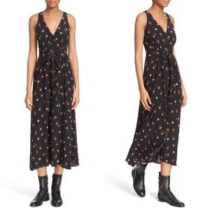 Rebecca Taylor Mini Meadow Floral Silk Maxi Dress